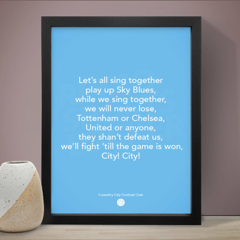 Coventry City – Let's All Sing Together Song Football Poster